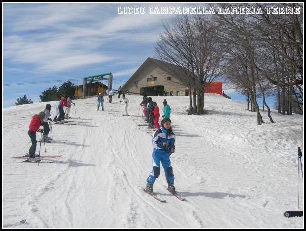 A scuola di sci - Lorica - febbraio 2008